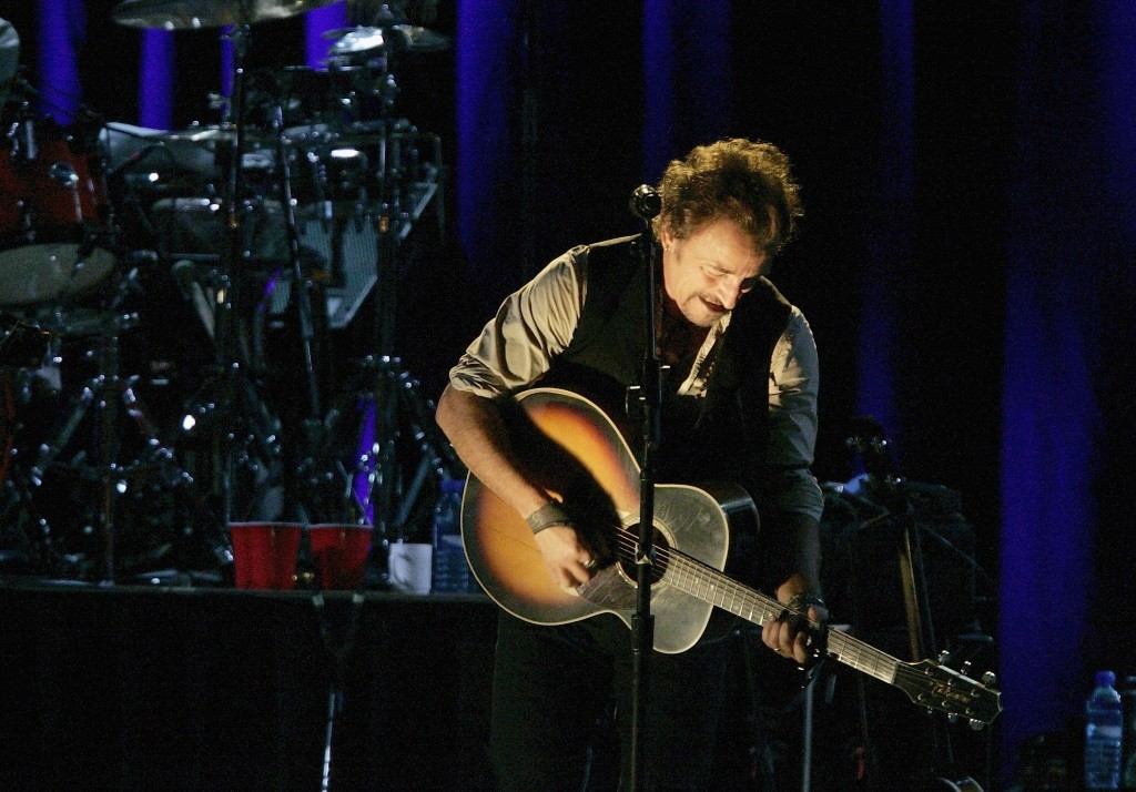 Bruce Springsteen performs during the Super Bowl halftime show.