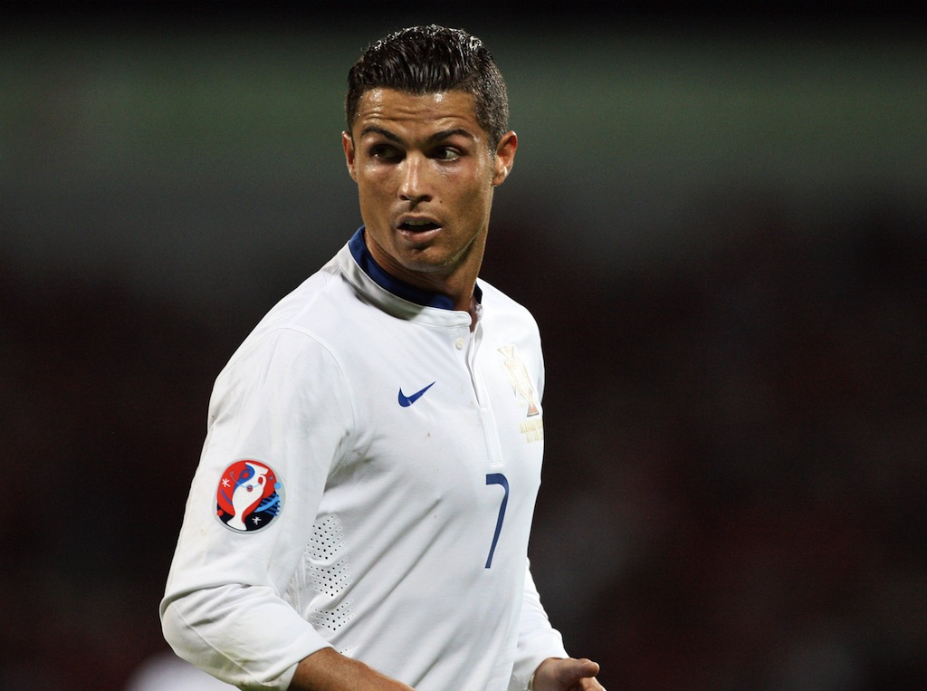 Cristiano Ronaldo looks on during a Euro 2016 qualifying match
