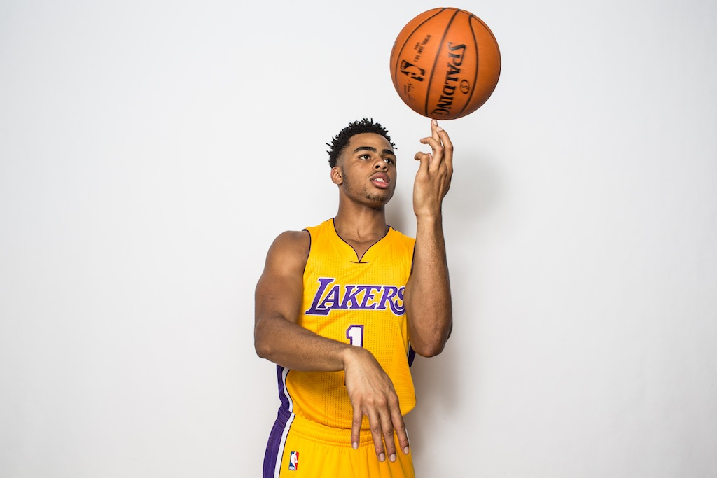 D'Angelo Russell during the rookies photoshoot