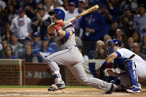 David Wright bats.
