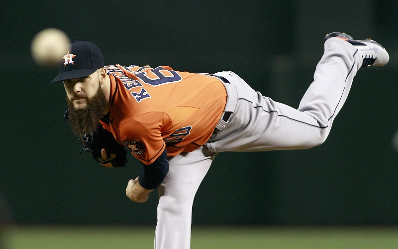 Dallas Keuchel pitches.