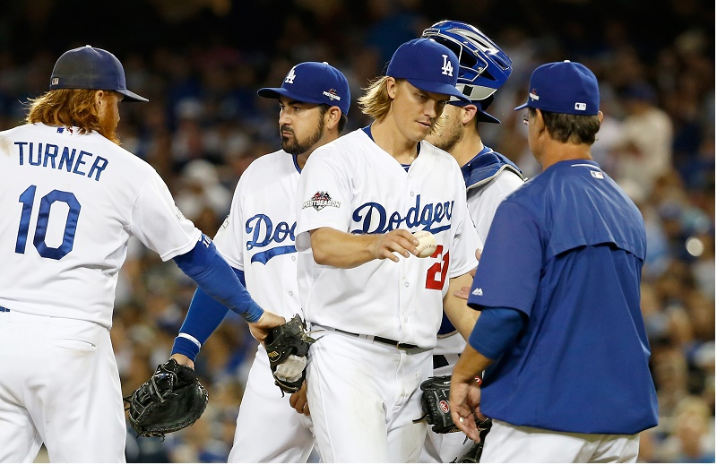 Dodgers NLDS Greinke Sean M. Haffey/Getty Images