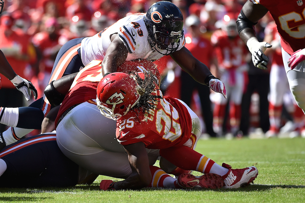 Jamaal Charles injured against the Bears