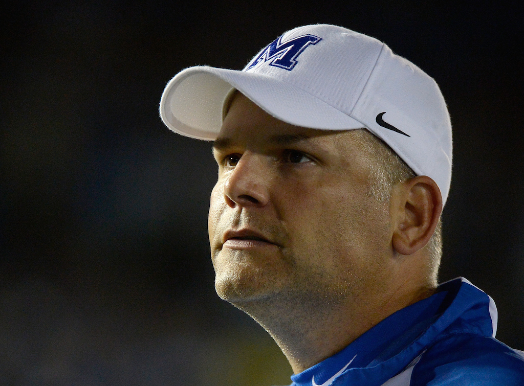 Memphis coach Justin Fuente after the game