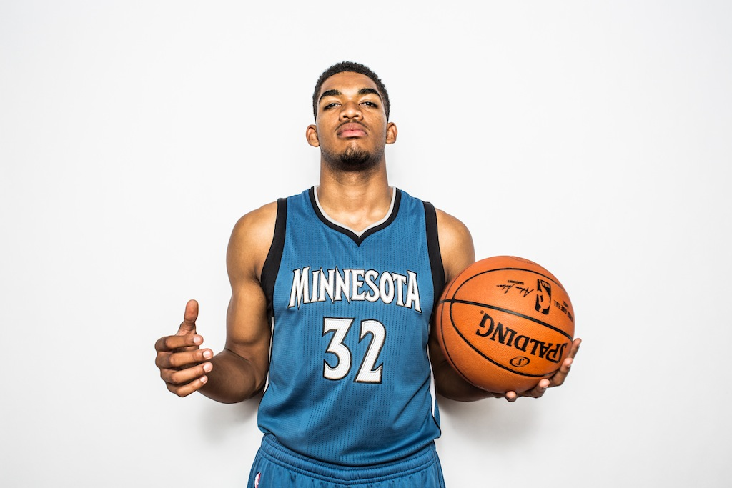 Karl-Anthony Towns during the rookies photoshoot