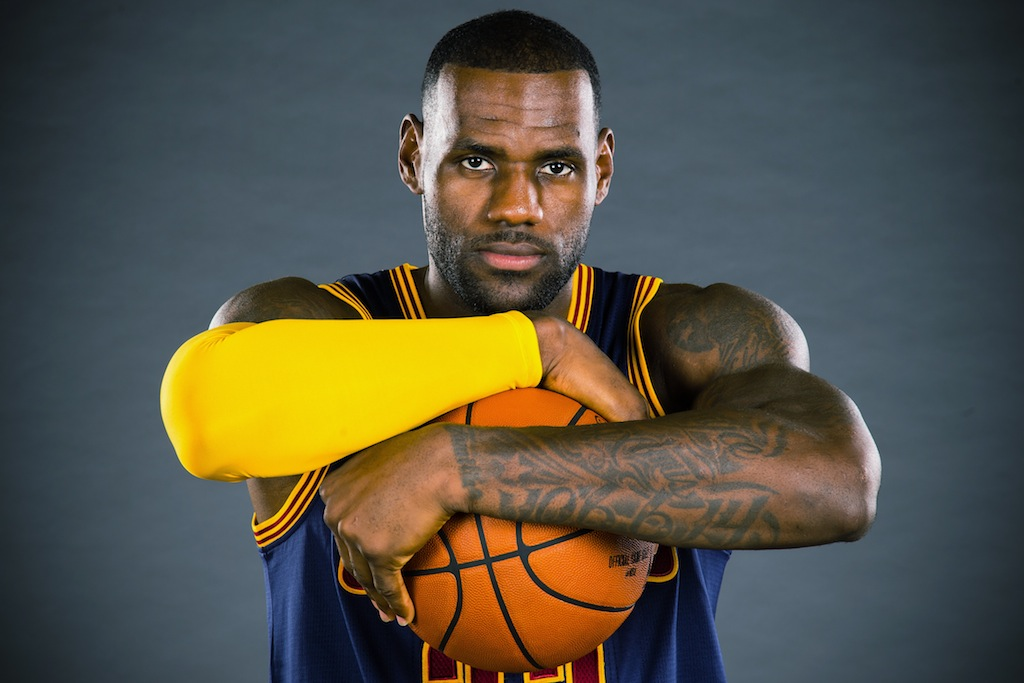 LeBron James at Cavs media day