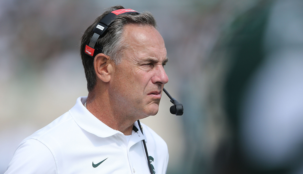Mark Dantonio on the sidelines during a game