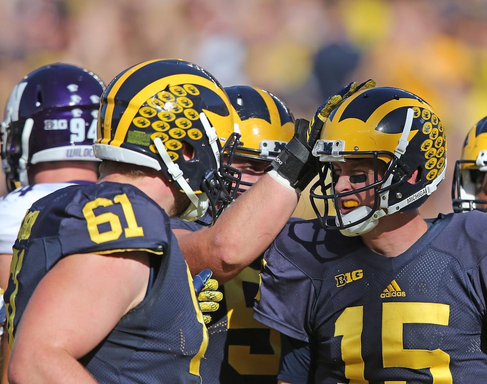 Michigan Wolverines celebrate