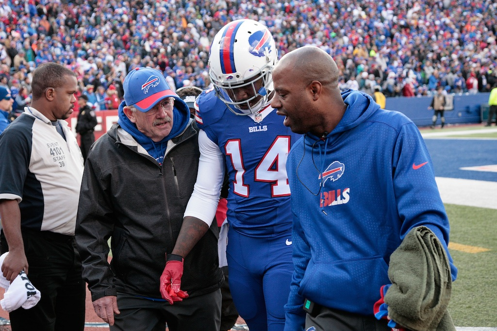 Sammy Watkins walked off the field after an injury