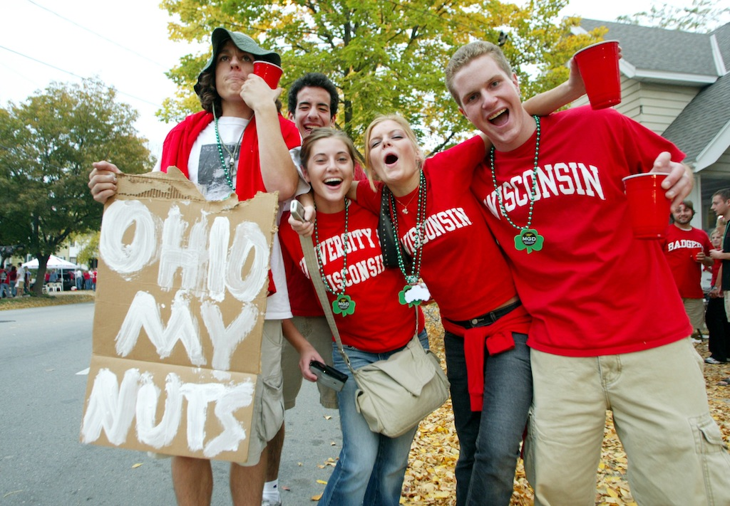 Wisconsin students tailgate hard.