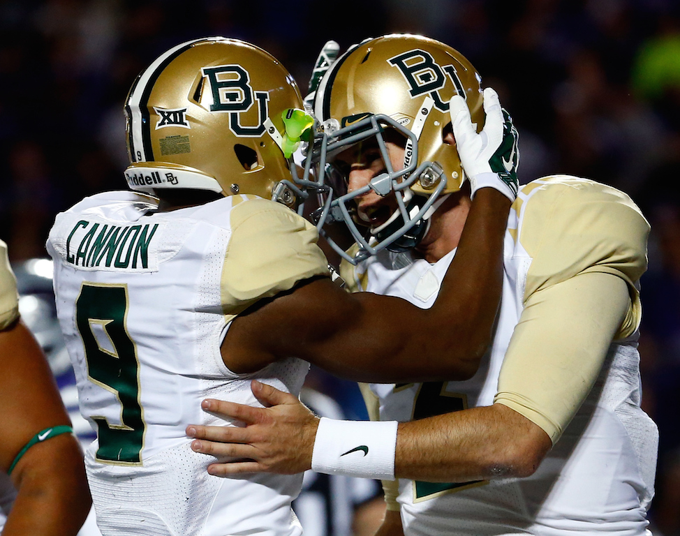 Baylor Bears celebrate a touchdown