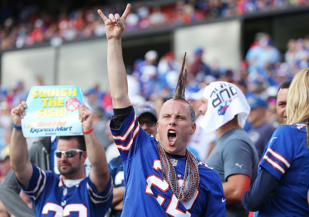Buffalo Bills fan goes wild
