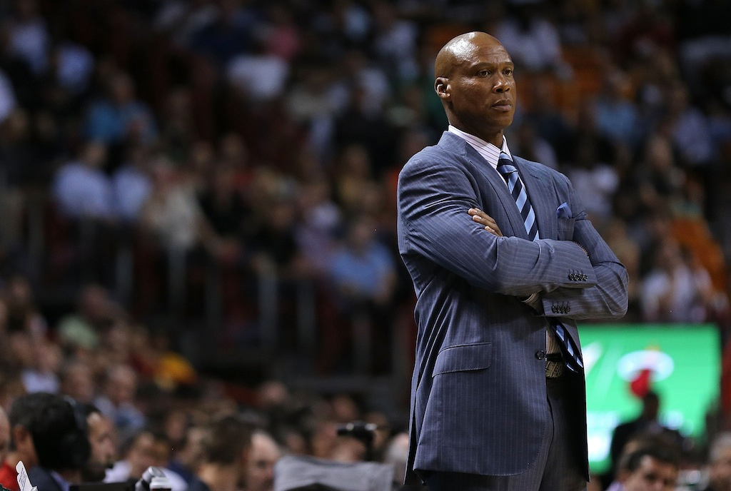 Lakers coach Byron Scott looks on during a game against the Heat
