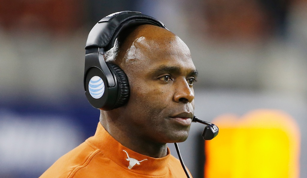 Charlie Strong coaches the Texas Longhorns