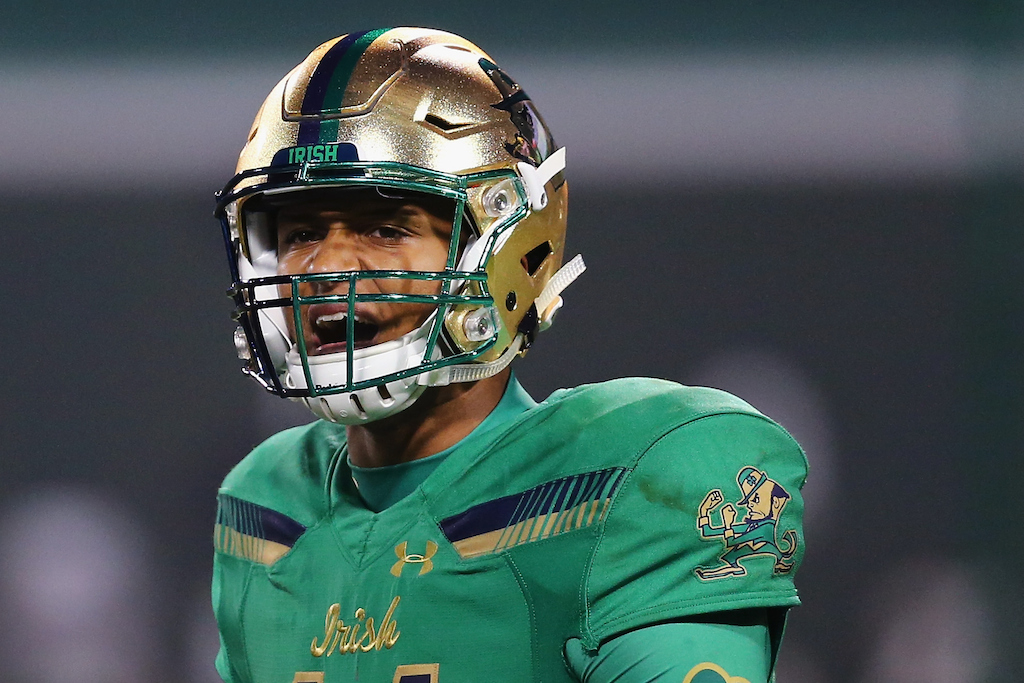 DeShone Kizer directs the Fighting Irish