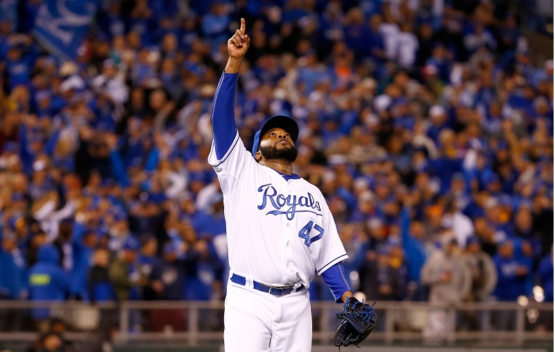 Johnny Cueto of the Kansas City Royals