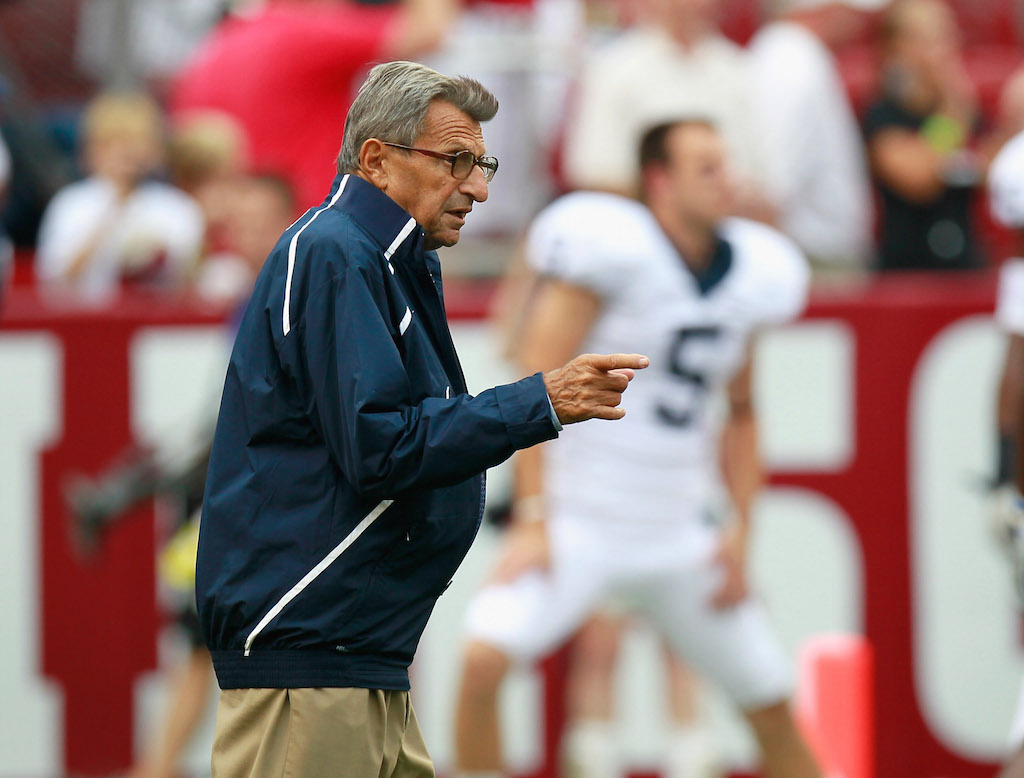 Joe Paterno has a sports record no one will break