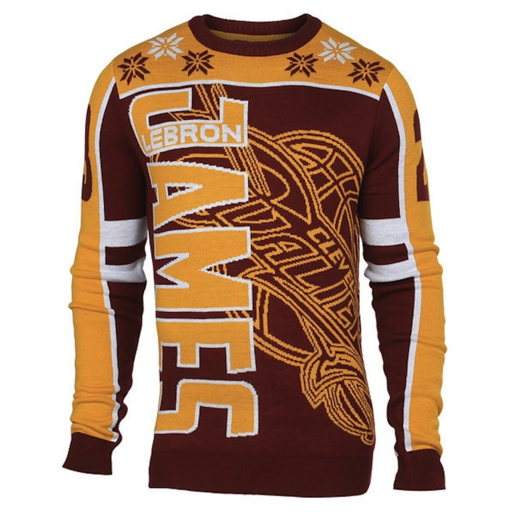 LeBron James ugly sweater