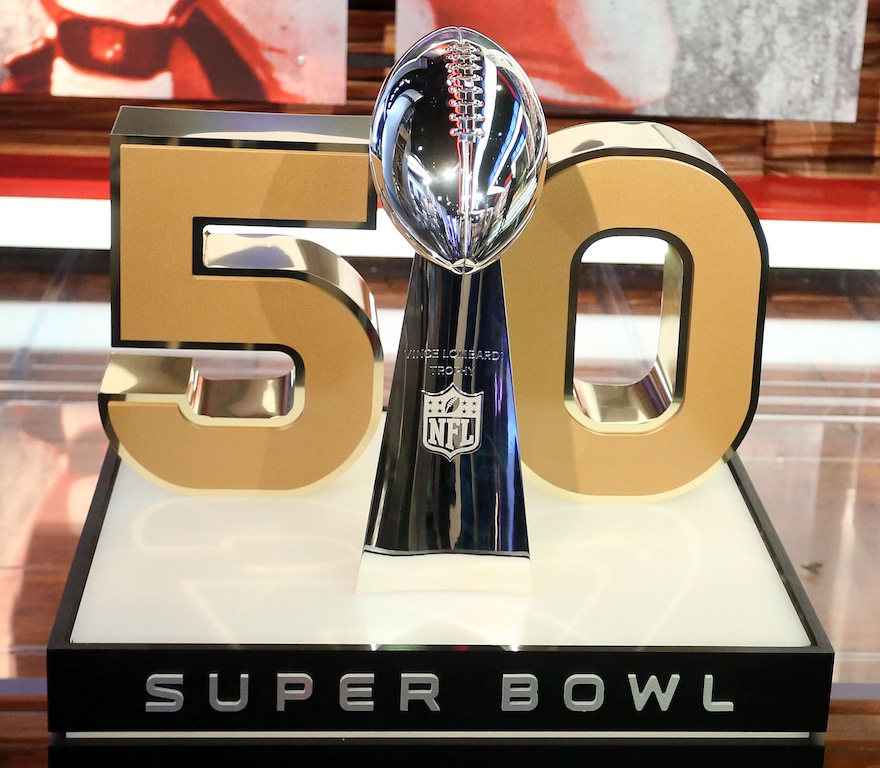 Lombardi Trophy on display