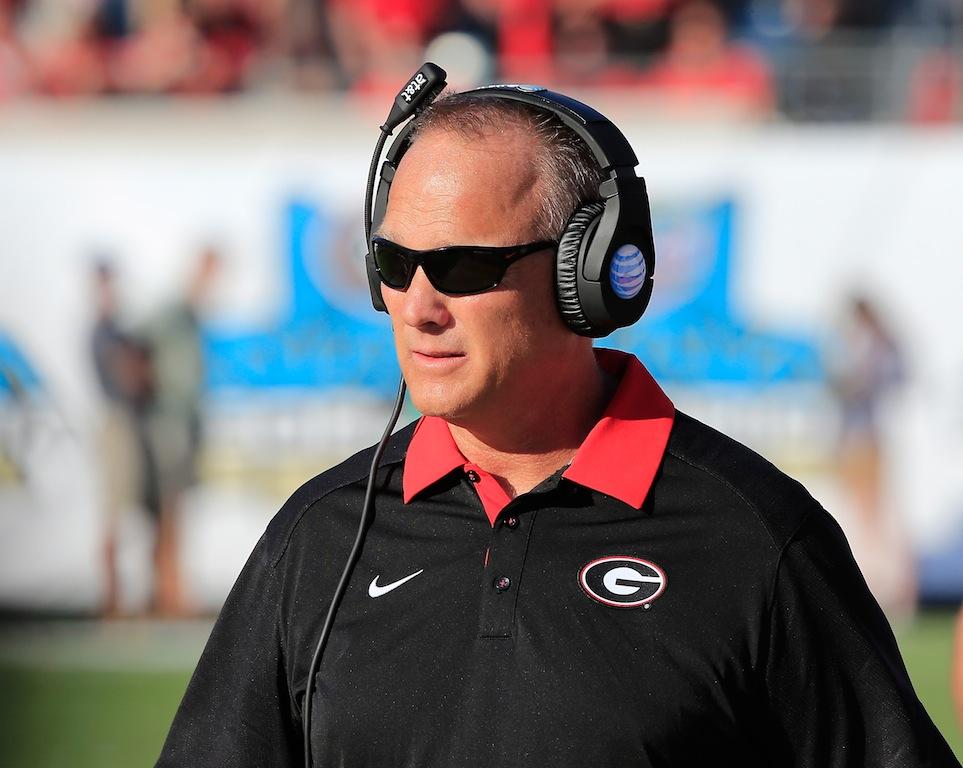 Georgia coach Mark Richt looks on against Florida