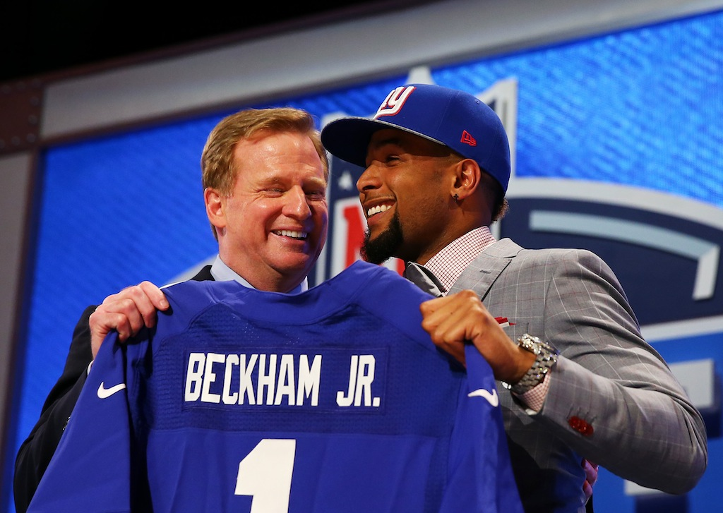 Roger Goodell and Odell Beckham Jr. at the 2014 NFL Draft