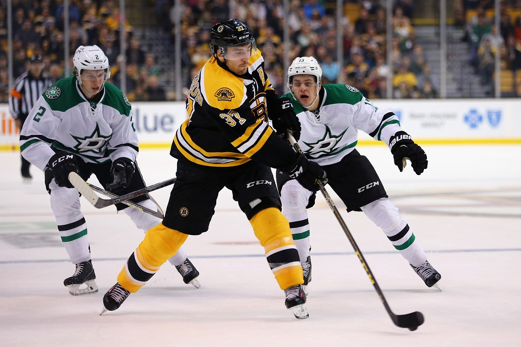 <> during the second period at TD Garden on November 3, 2015 in Boston, Massachusetts.