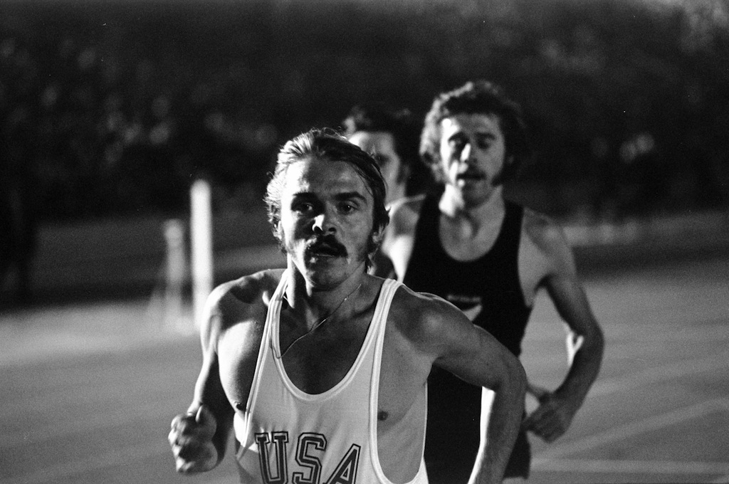 Steve Prefontaine of the USA in action during a track and field event at Crystal Palace in London, England.