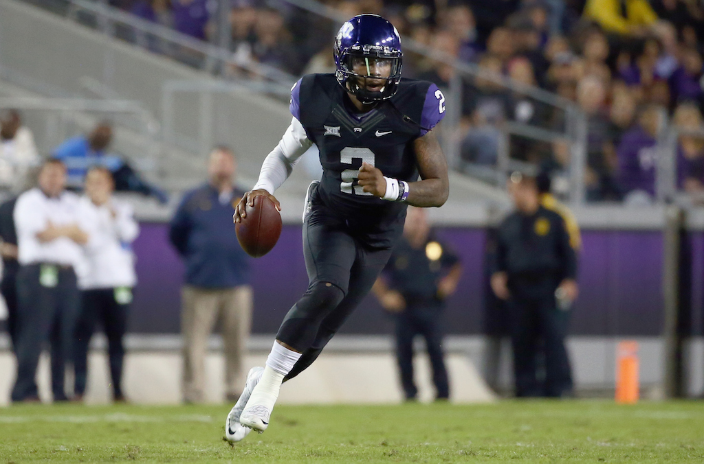 Trevone Boykin carries the ball against West Virginia