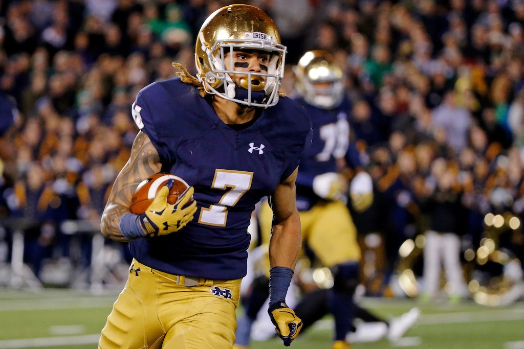 Notre Dame's Will Fuller rushes with the ball