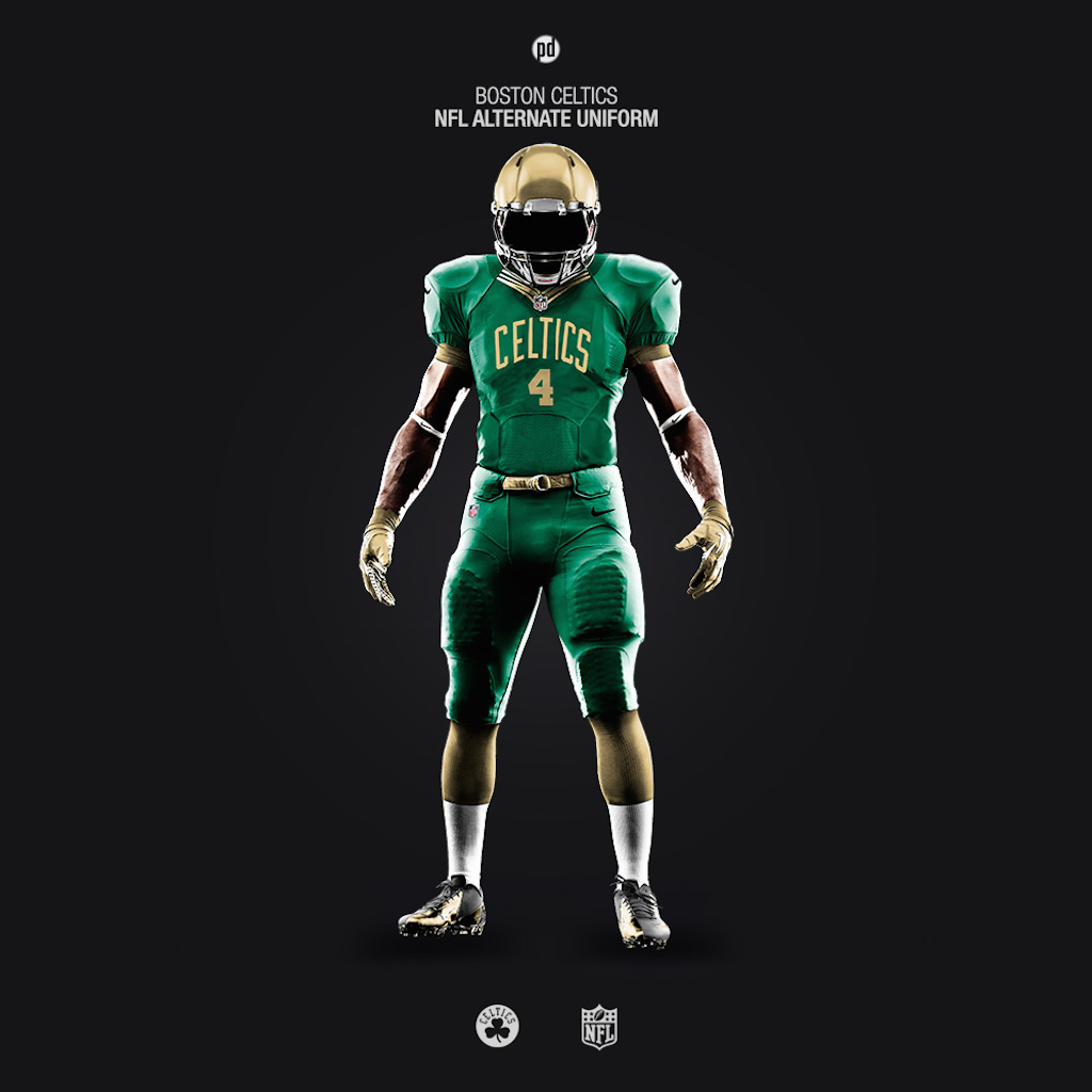 Boston Celtics NFL uniforms