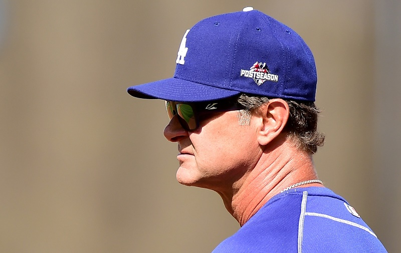 Don Mattingly of the Los Angeles Dodgers - Game Five NLDS