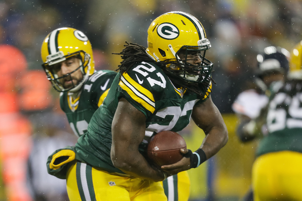 Eddie Lacy #27 of the Green Bay Packers