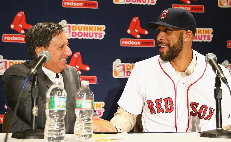David price speaks during a media conference.
