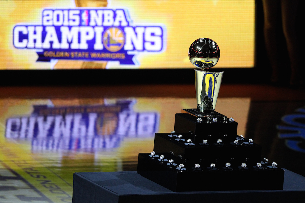 A look at the Larry O'Brien trophy
