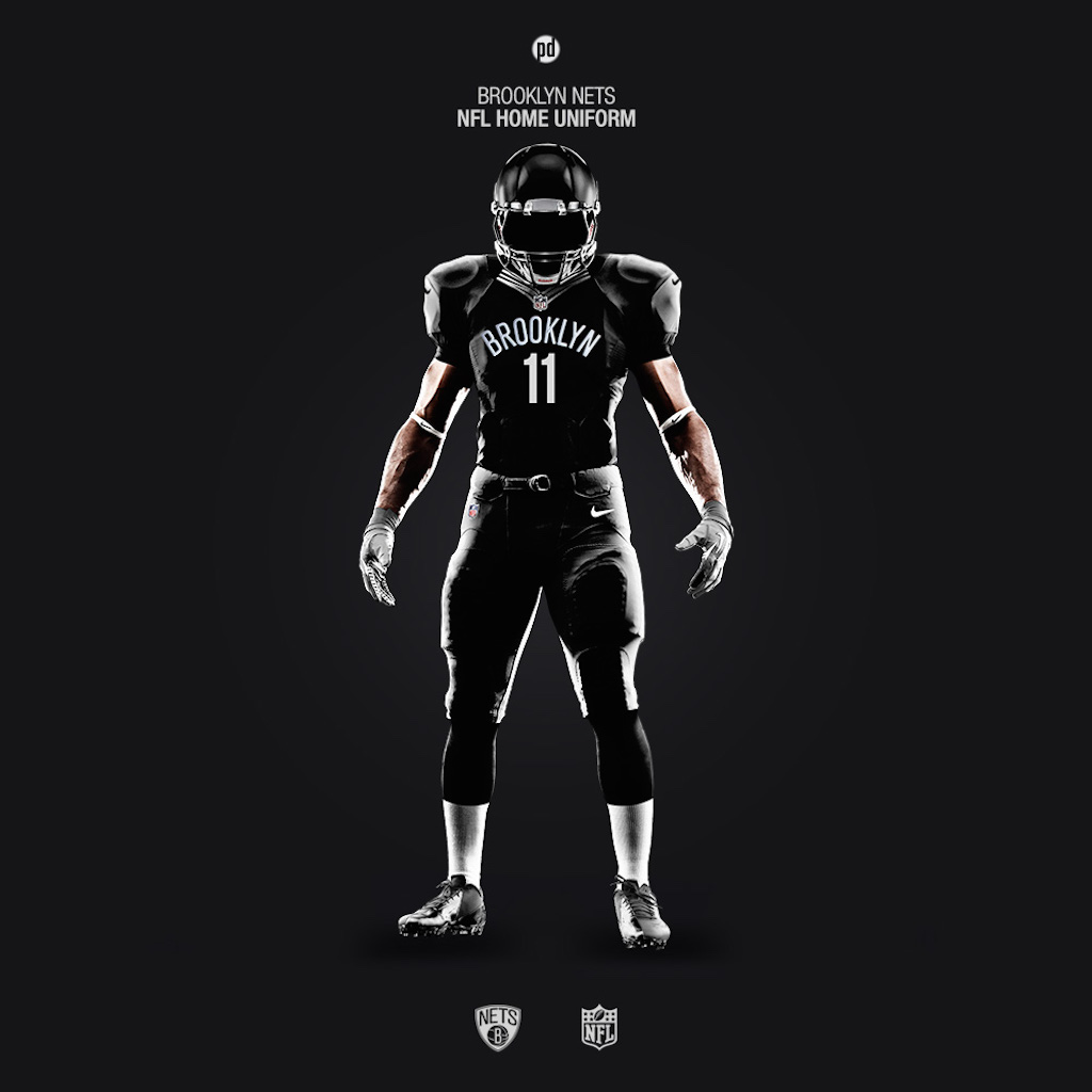 Brooklyn Nets NFL uniform