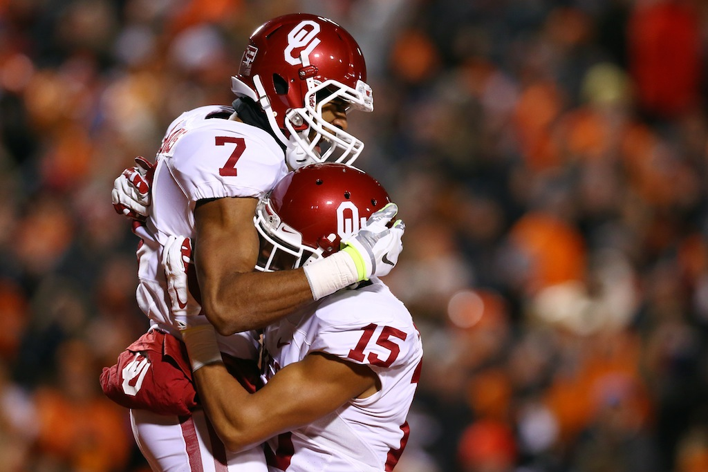 Oklahoma players celebrate