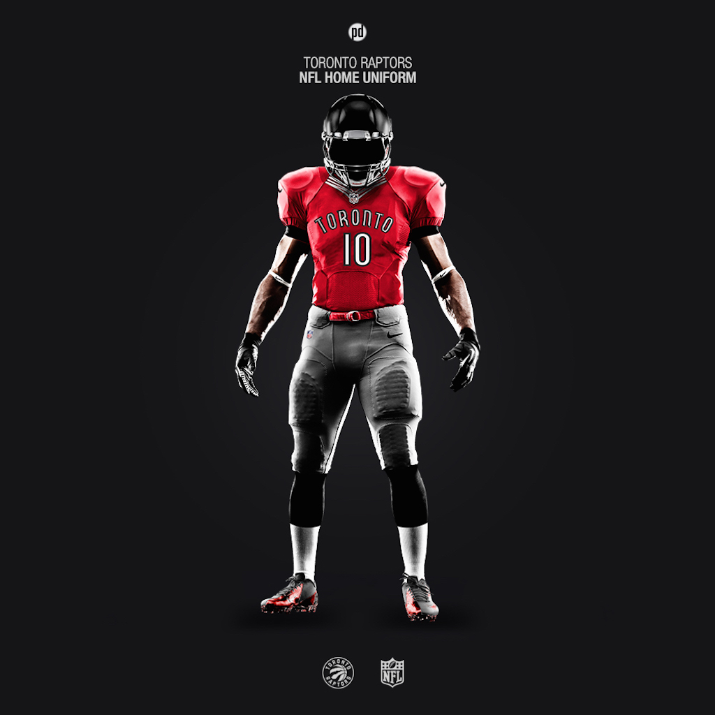 Toronto Raptors NFL uniform