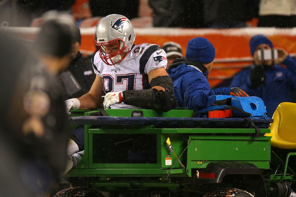 Rob Gronkowski is carted off the field