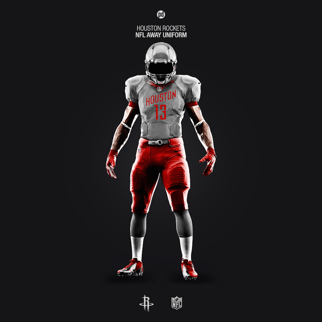 Houston Rockets NFL uniform