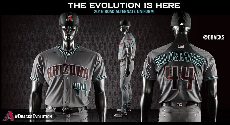 gray and teal dbacks