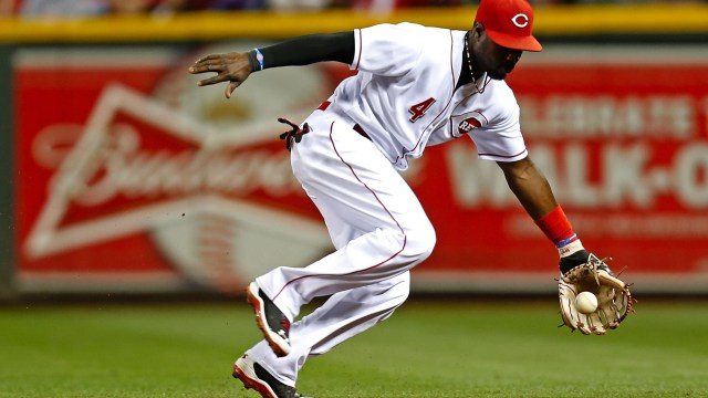Brandon Phillips catches a grounder.