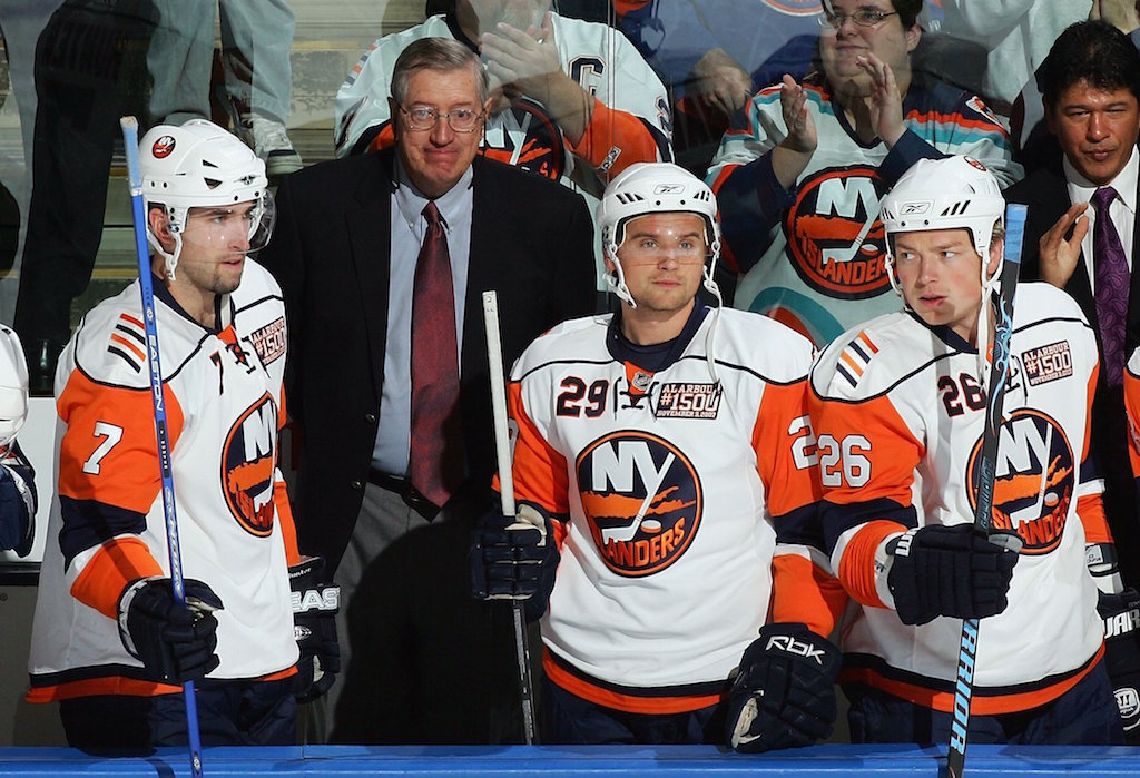 Al Arbour coaches his 1,500th game with the Islanders