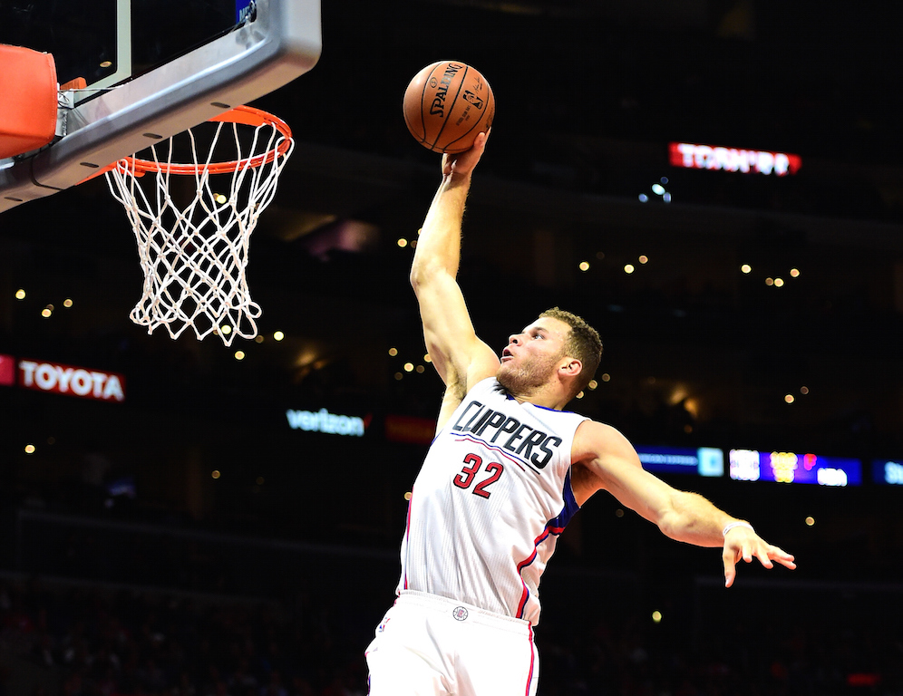 Blake Griffin soars for the dunk