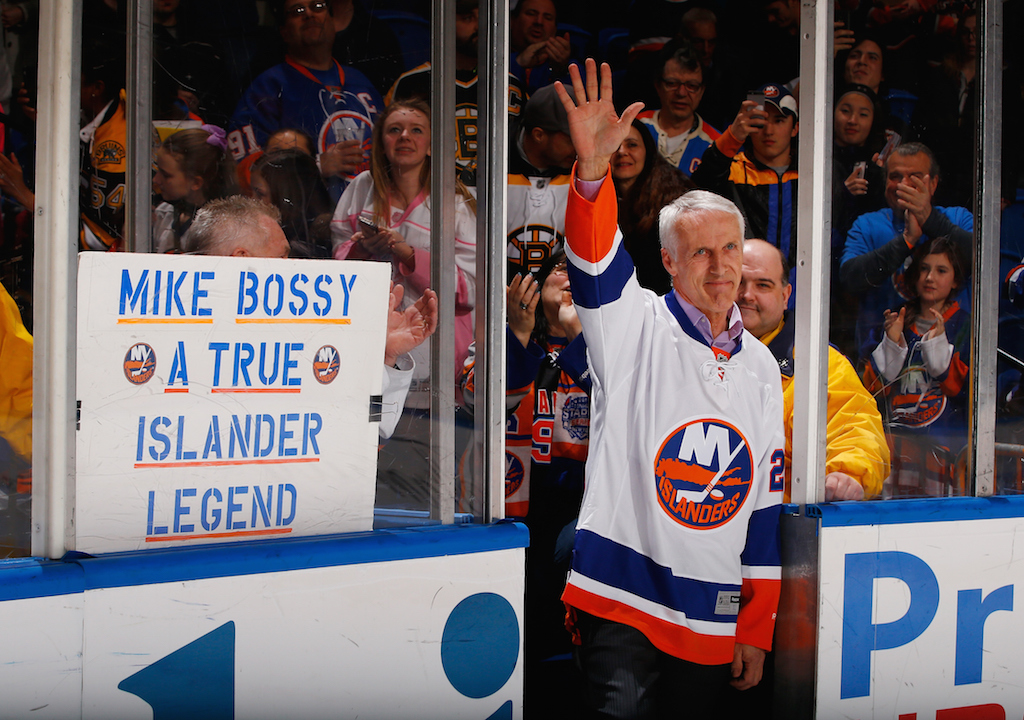 Mike Bossy of the New York Islanders NHL