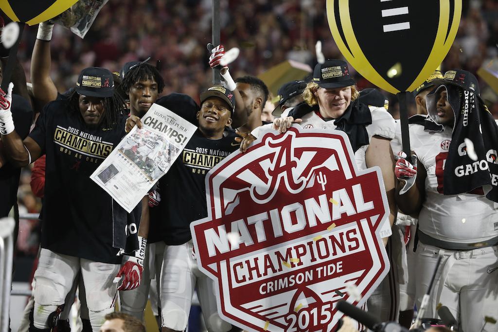 Alabama celebrates winning the national championship