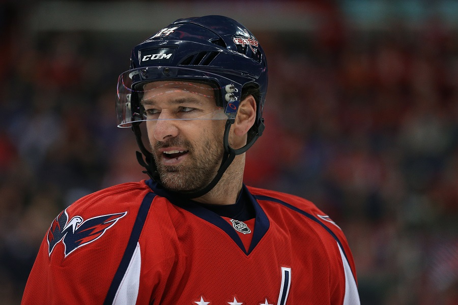 Justin Williams #14 of the Washington Capitals during a NHL game