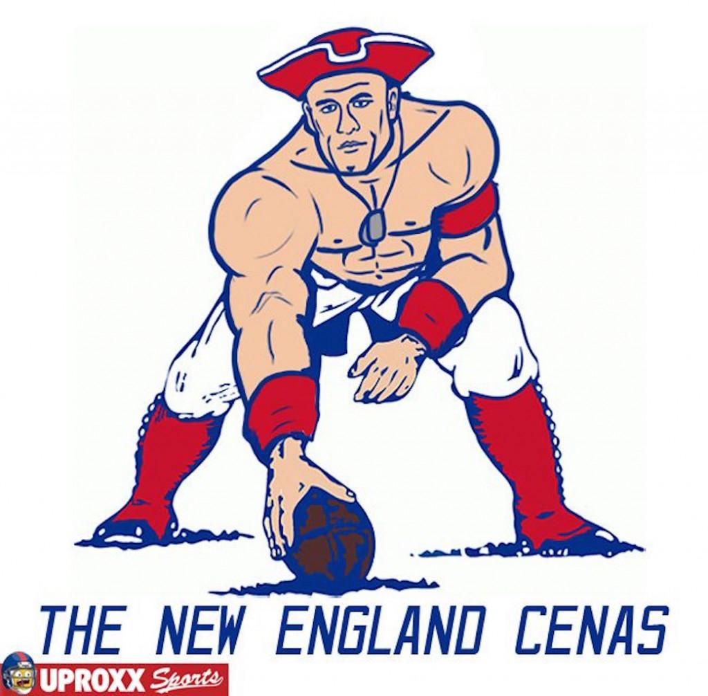 New England Patriots wrestling logo
