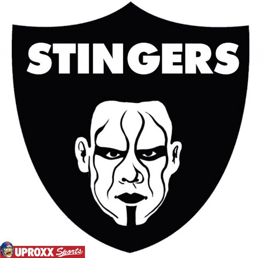 Oakland Raiders wrestling logo