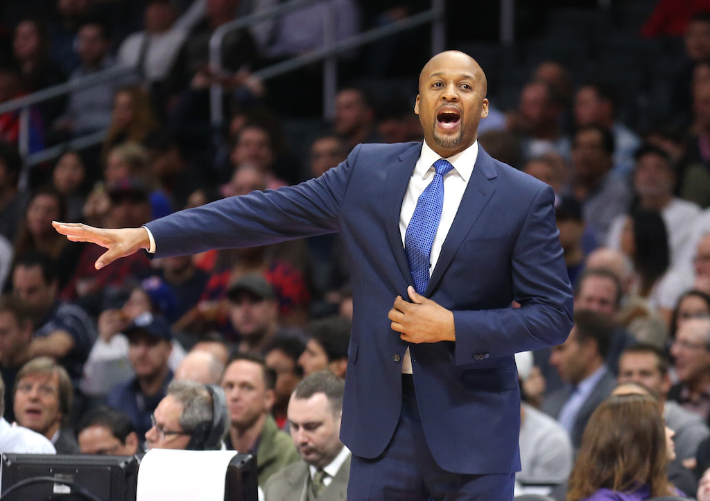 Brian Shaw during his stint coaching the Nuggets