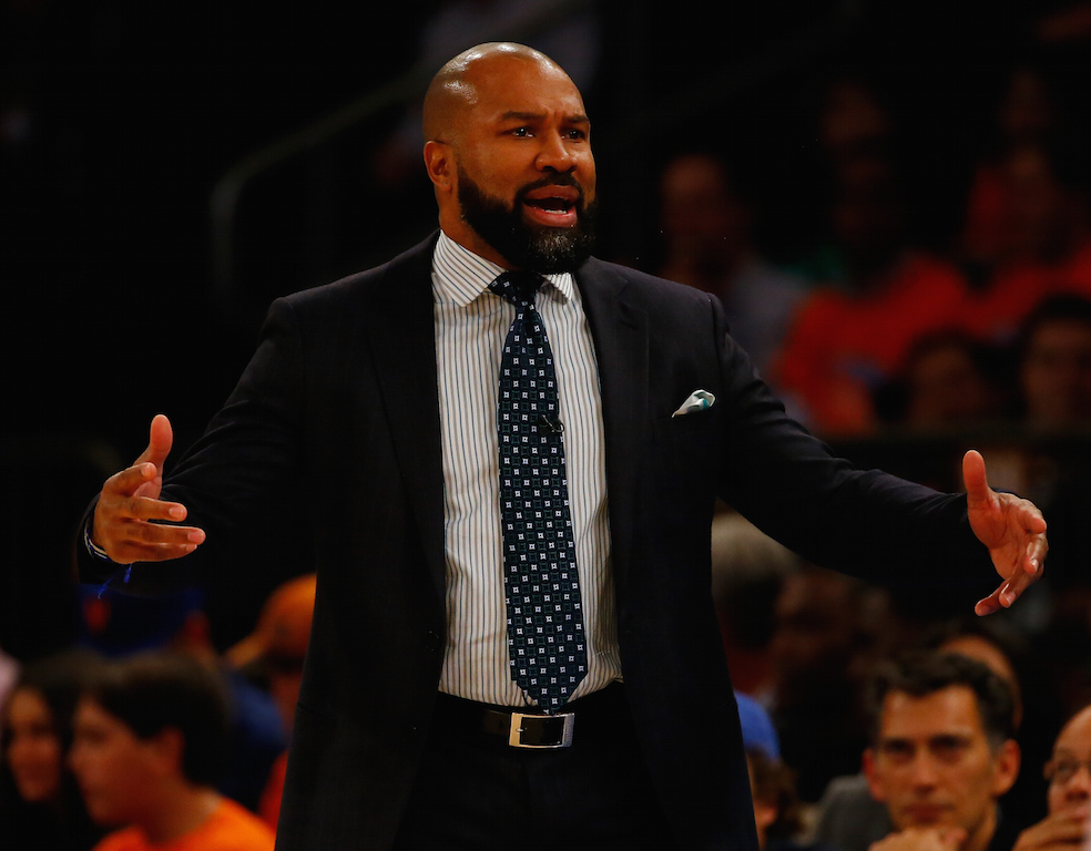 Derek Fisher yells at his players.